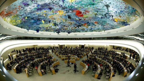 Panoramica del Consiglio dei diritti umani delle Nazioni Unite a Ginevra, in Svizzera, 6 giugno 2017 - Sputnik Italia