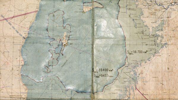 Mappa del lago di Aral nel 1964 - Sputnik Italia