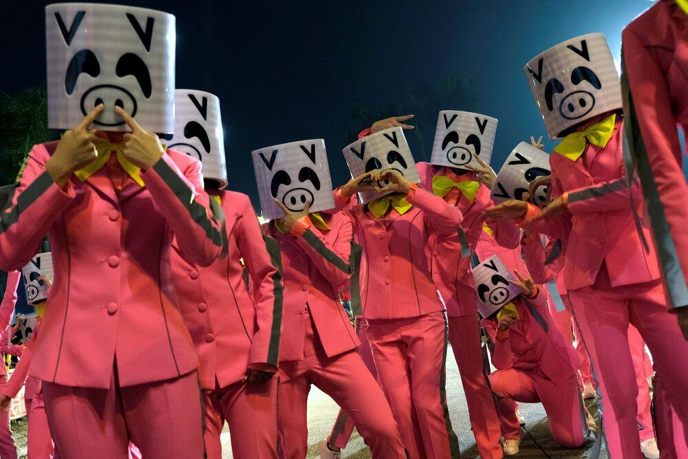 Celebrazioni del capodanno cinese a Hong Kong.
