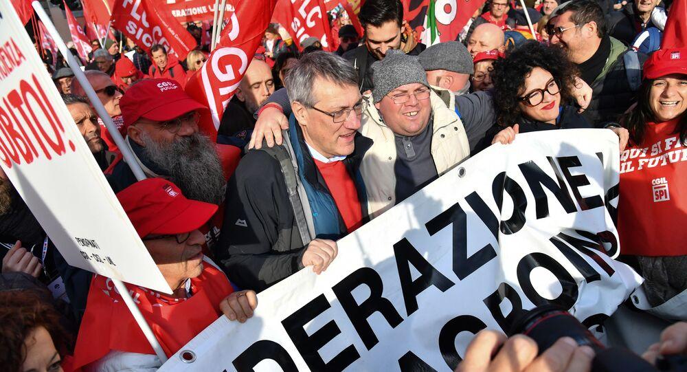 Manifestazione sindacati, Roma