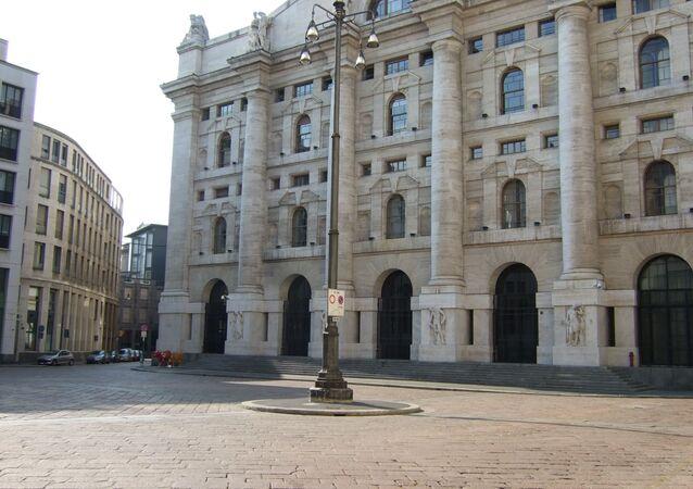 La borsa italiana a Milano
