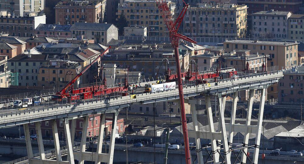La ricostruzione del ponte Morandi a Genova
