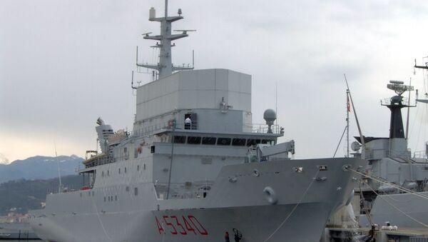 La nave da ricognizione della Marina militare italiana Elettra - Sputnik Italia