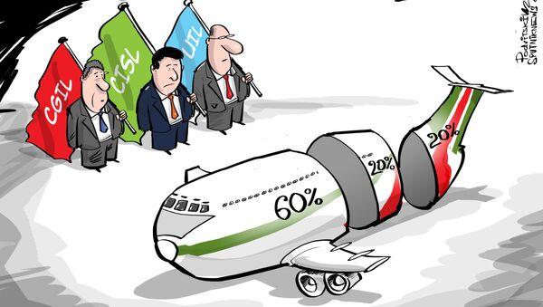 Il governo dell'Italia si dice pronto a partecipare alla costituzione della nuova compagnia aerea di cui avrà in possesso il 60%. Delta e Easy Jet avranno il 20% ciascuna. - Sputnik Italia