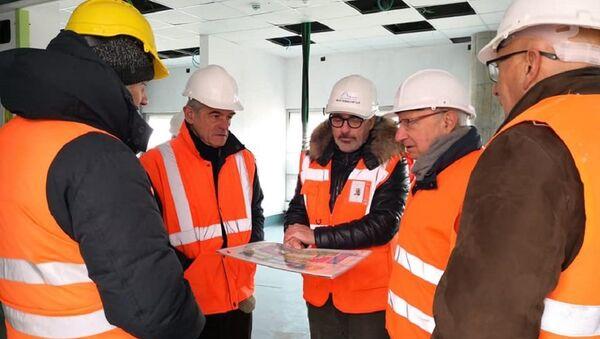 Sergio Chiamparino al cantiere del nuovo ospedale di Verduno - Sputnik Italia