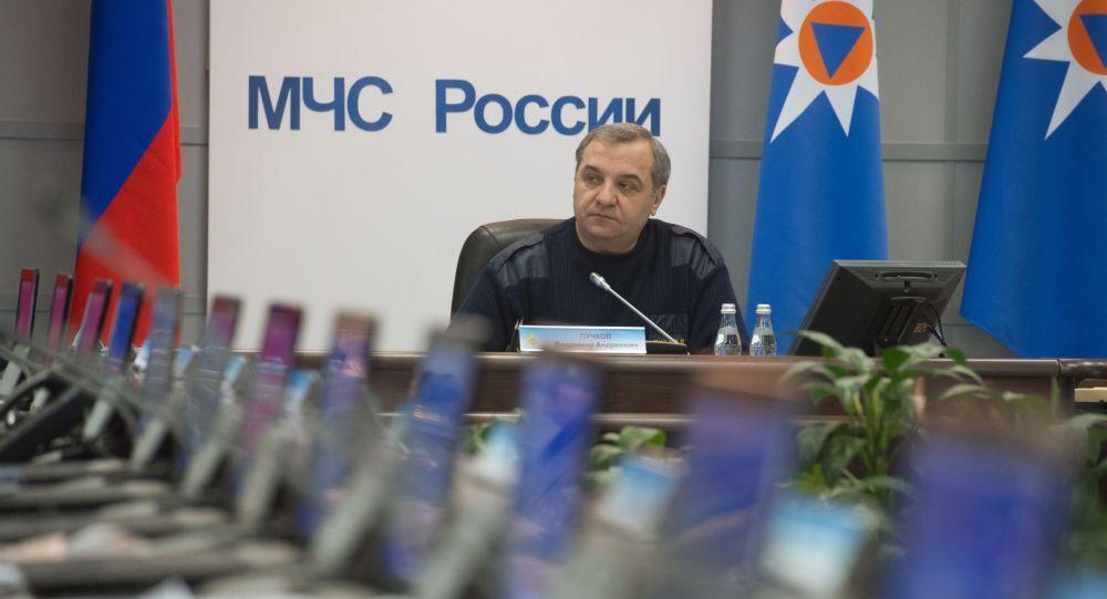 Ministro della Protezione Civile della Russia Vladimir Puchkov