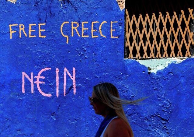 Graffiti sulle strade di Atene