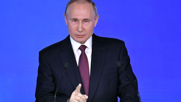 1 marzo 2018, il discorso di Putin all'Assemblea Federale - Sputnik Italia