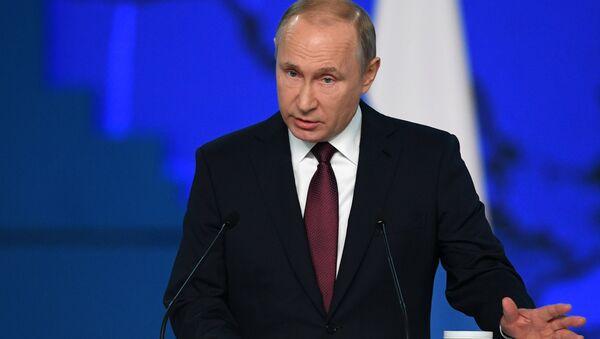 Il discorso del presidente Putin di fronte all'Assemblea Federale - Sputnik Italia