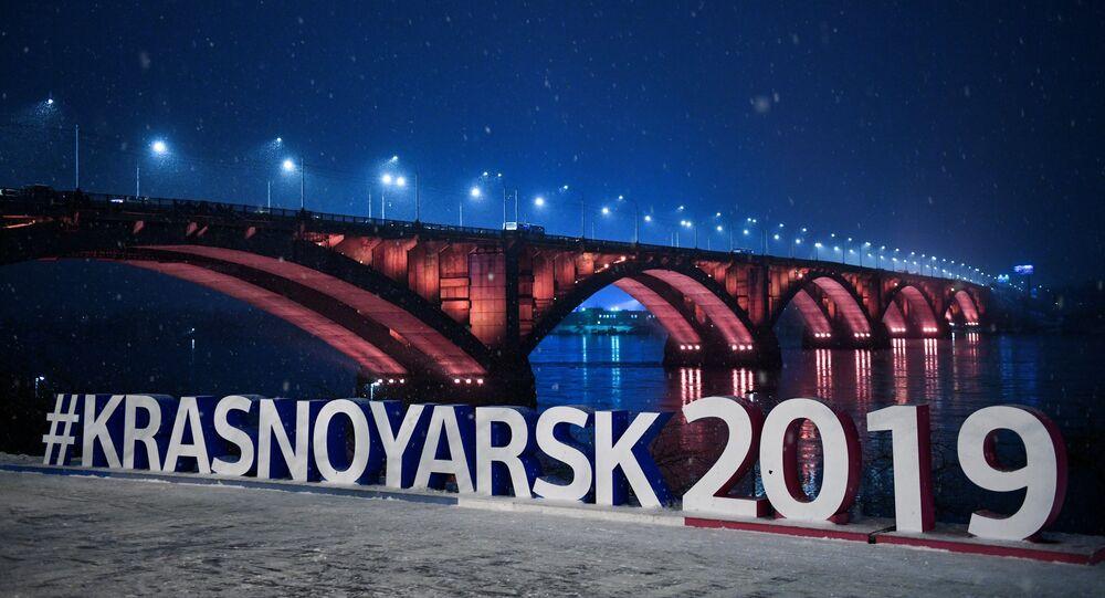 Krasnoyarsk, il ponte sul fiume Enisey