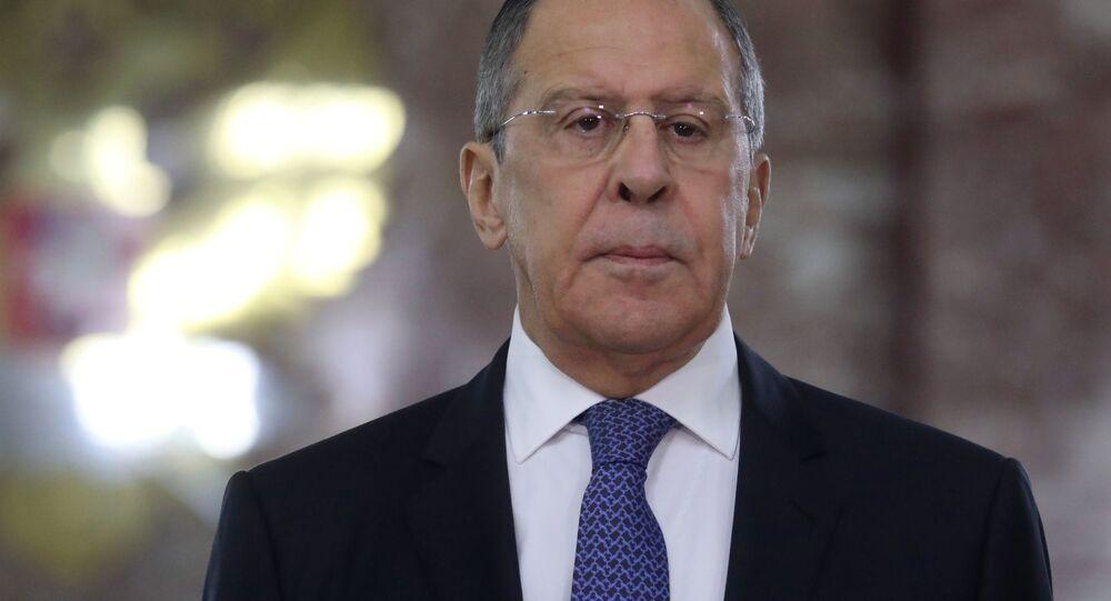 Il ministro degli Esteri russo Sergey Lavrov