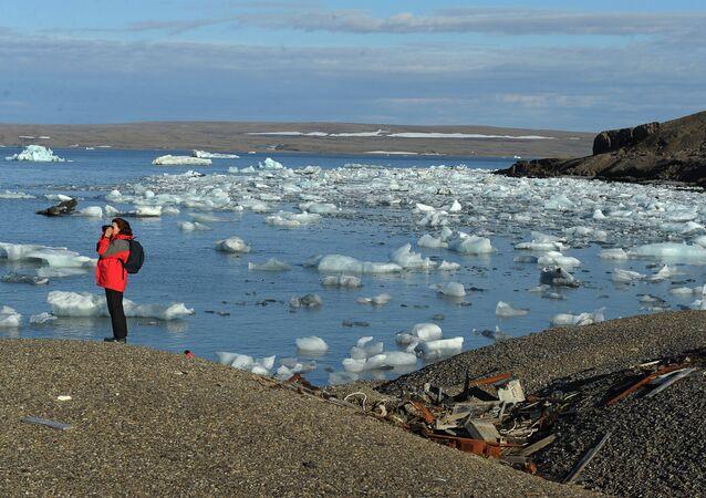 Partecipande alla spedizione alla stazione meteo abbandonata nell'isola nord