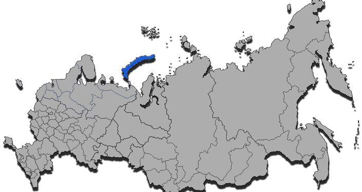 Novaya Zemlya, mappa amministrativa