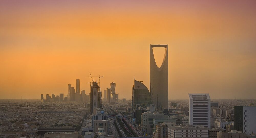 Riyadh Skyline showing the King Abdullah Financial District (KAFD) and the famous Kingdom Tower
