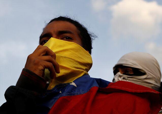 Dimostranti dell'opposizione venezuelana (foto d'archivio)