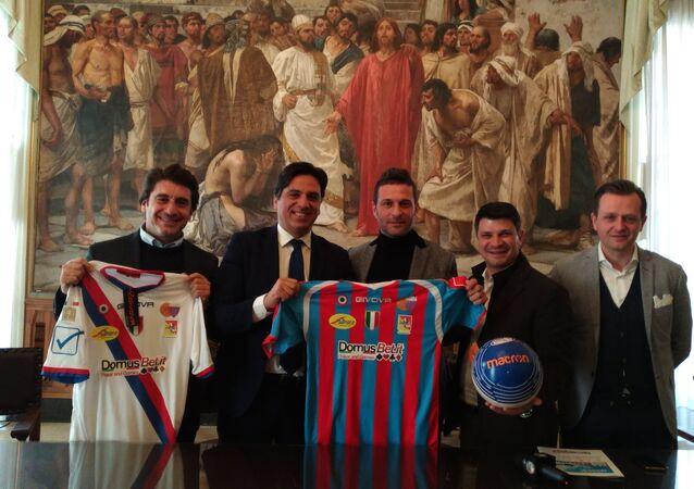 Conferenza stampa con il sindaco Pogliese