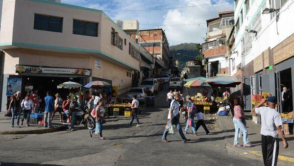 Una calle de un barrio popular de Caracas - Sputnik Italia