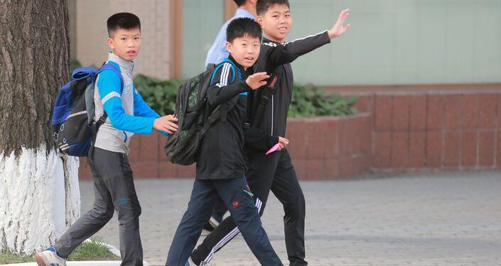 Bambini a Pyongyang