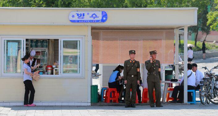 Un bar a Pyongyang