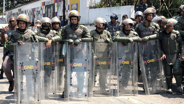 I militanti della Guardia Nazionale del Venezuela - Sputnik Italia