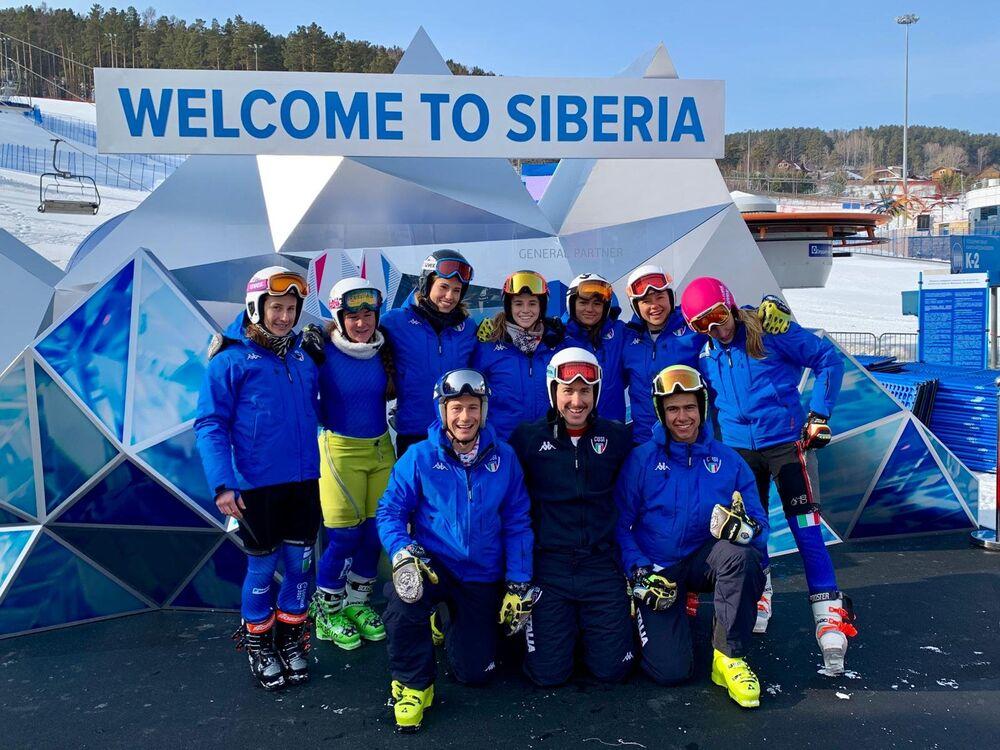 La nazionale italiana di sci alpino alle Universiadi Invernali di Krasnoyarsk 2019