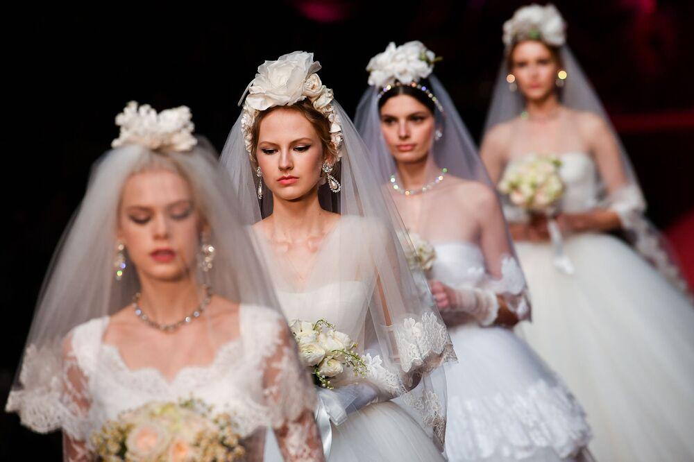 La presentazione della collezione di Dolce & Gabbana alla Settemana della moda di Milano.