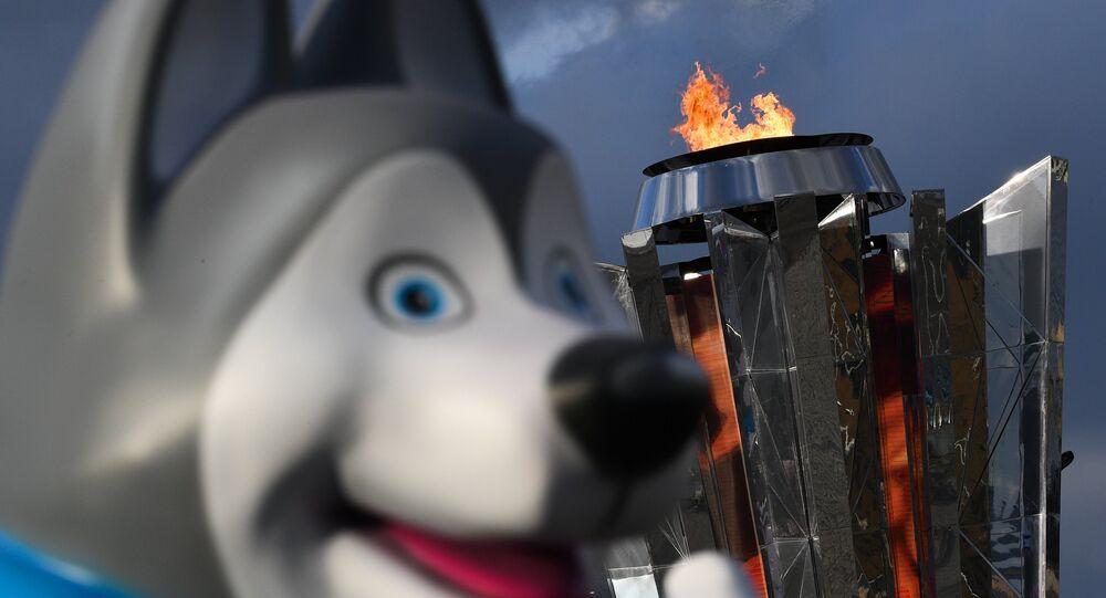 U-Laika, la mascotte delle Universiadi di Krasnoyarsk 2019