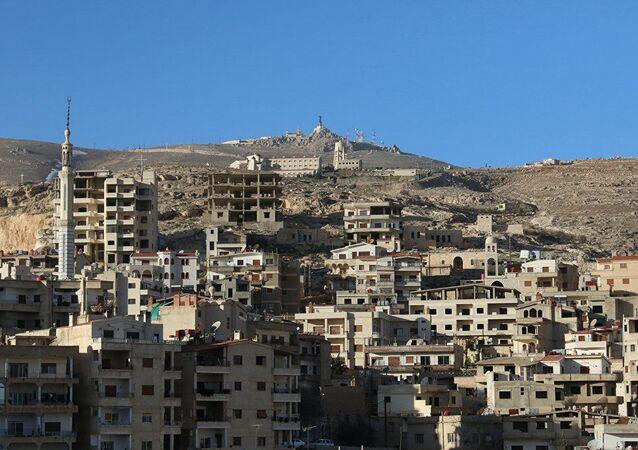 La statua di Gesù Cristo in Siria