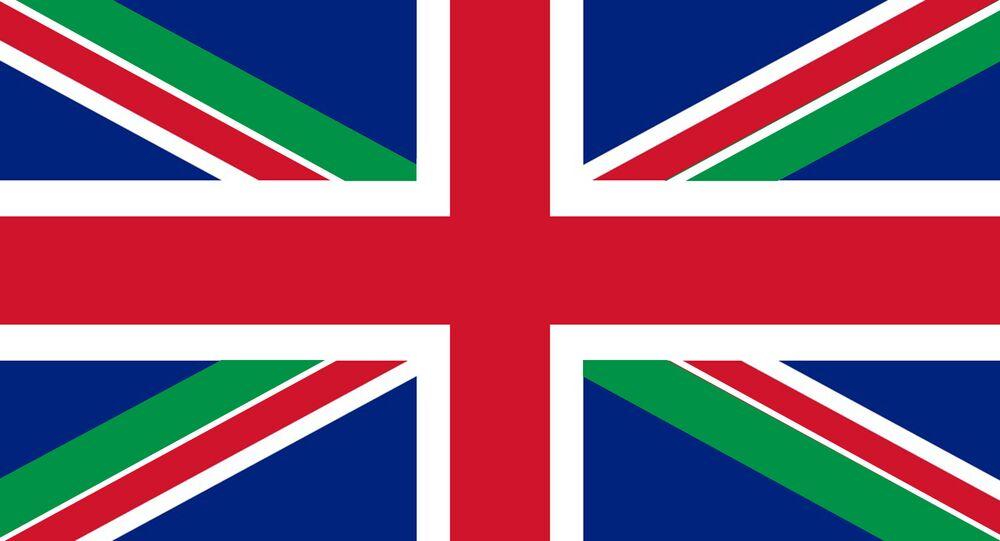Tricolore italiano nella bandiera UK