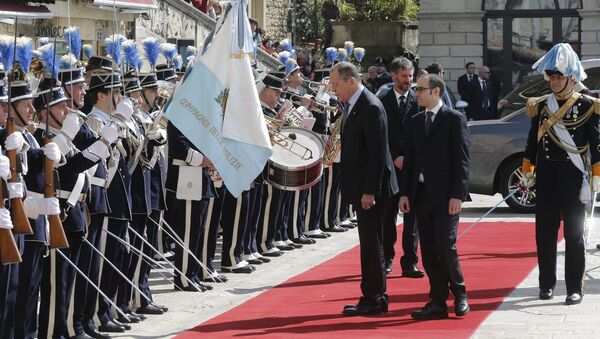 Il ministro degli Esteri russo Sergei Lavrov in visita in San Marino - Sputnik Italia