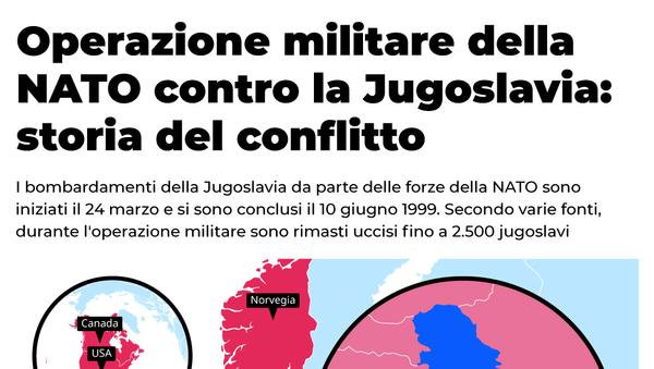 Operazione militare della NATO contro la Jugoslavia: storia del conflitto - Sputnik Italia