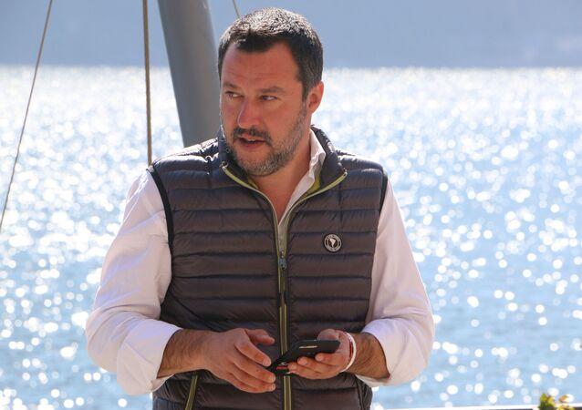 Il ministro dell'Interno e vicepremier Matteo Salvini