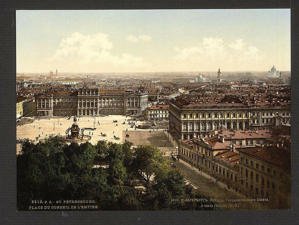 Veduta di San Pietroburgo nel 1890