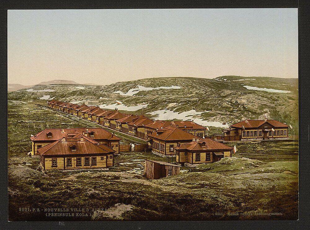 La città di Aleksandrovsk na Murmane (oggi Polyarniy), fondata nel 1896 nella penisola di Kola