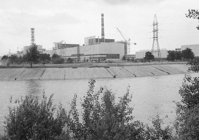 La centrale nucleare di Chernobyl in una foto del 1984