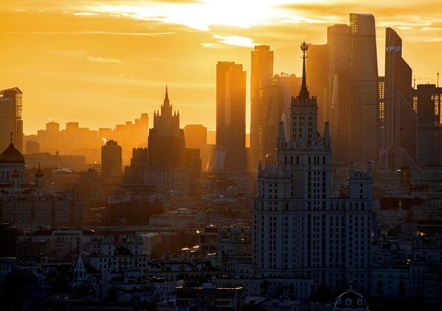 La vista del ministero degli Esteri russo, Mosca.