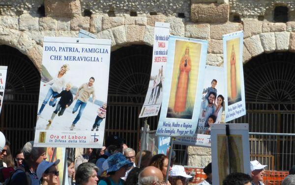 Congresso Mondiale della Famiglia Verona - Marcia  - Sputnik Italia