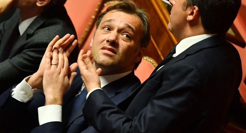 Il Senatore Matteo Richetti (al centro)