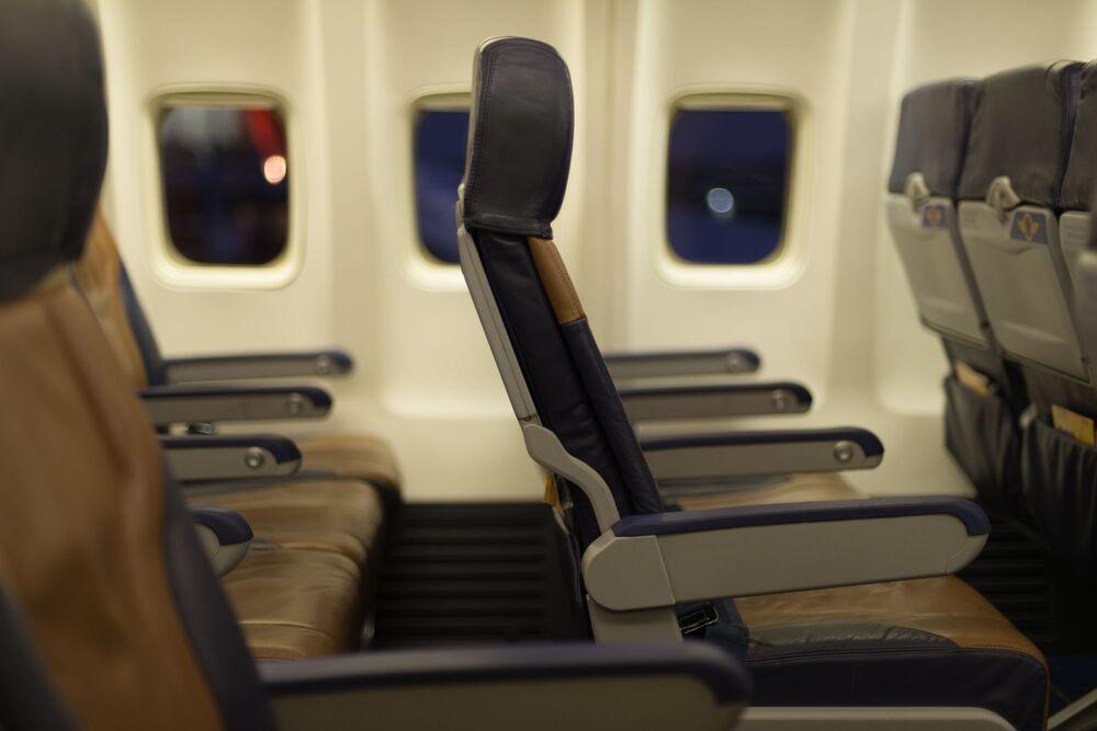 Posti di classe economica in un aereo della Southwest Airline
