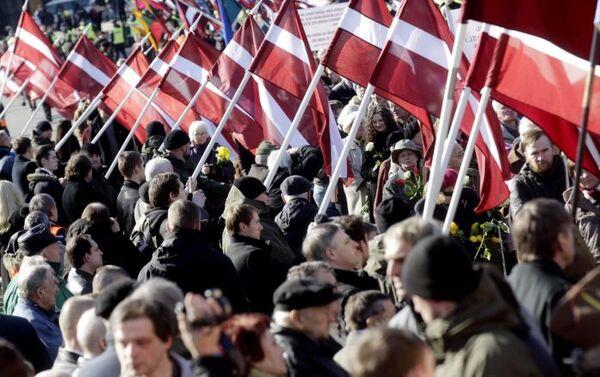 Marcia in memoria della divisione lettone delle SS Schutzstaffel a Riga - Sputnik Italia