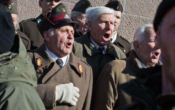 La marcia in memoria della divisione lettone delle SS Schutzstaffel. - Sputnik Italia