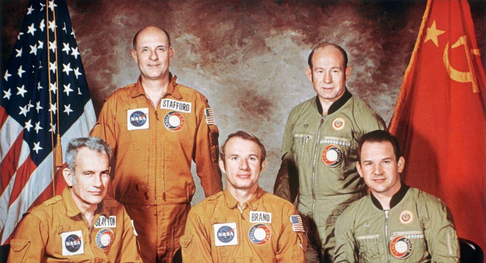 Soyuz-Apollo Soviet-U.S. space crew