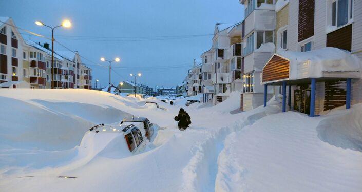 Marzo 2013, nevicata standard a Sachalin