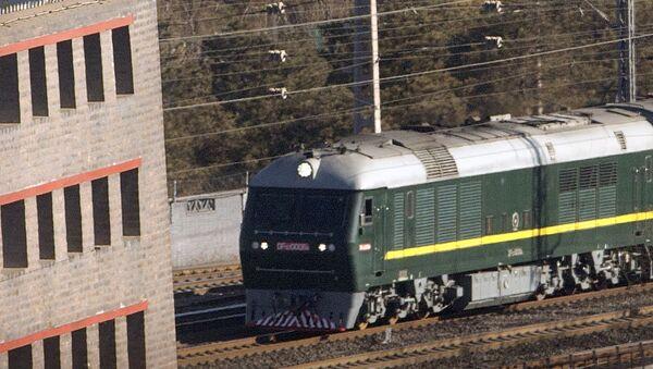 Il treno in cui è arrivato in Russia il leader nord'coreano Kim Jong-un - Sputnik Italia