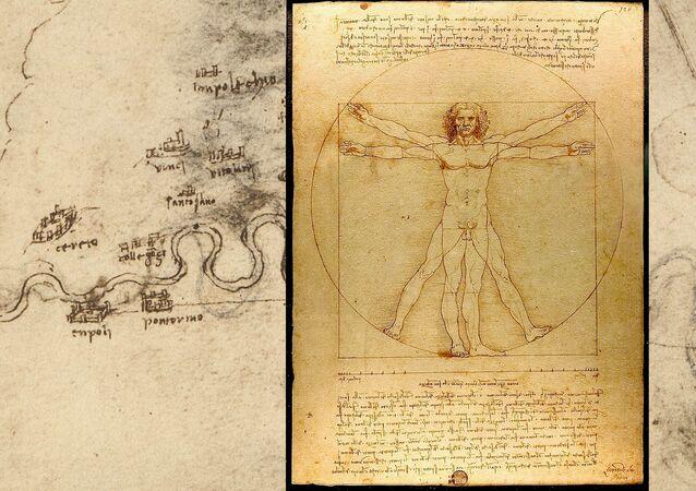 Progetti per l'Arno e Uomo Vitruviano