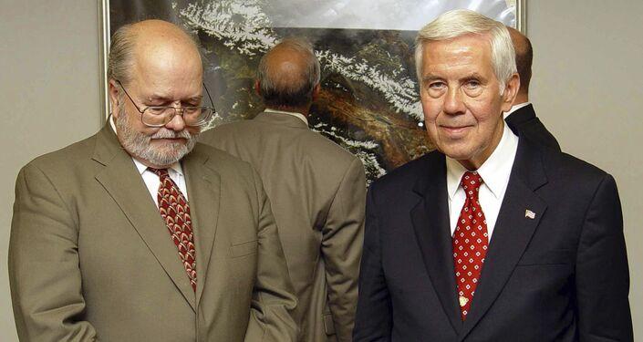 Ex senatore USA Richard Lugar (a destra)