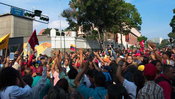 L'azione di sostegno di Nicolas Maduro a Caracas - Sputnik Italia