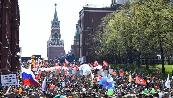 Il corteo del primo maggio a Mosca - Sputnik Italia