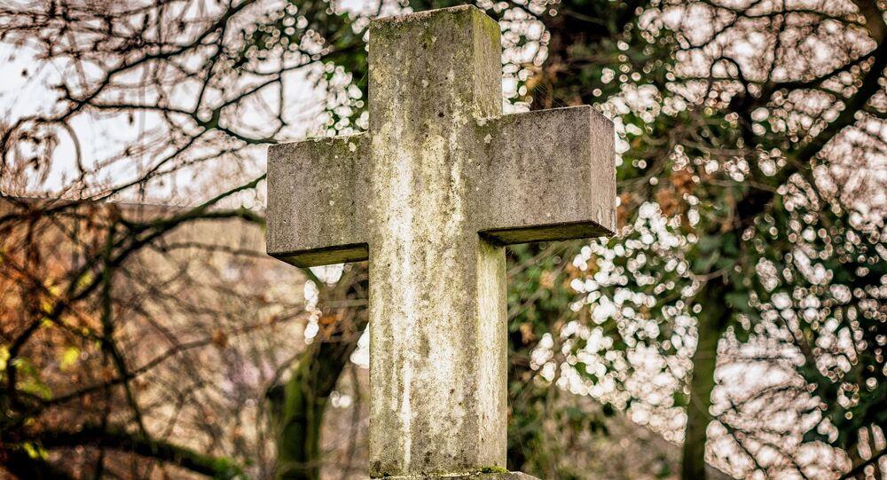 Una croce al cimitero