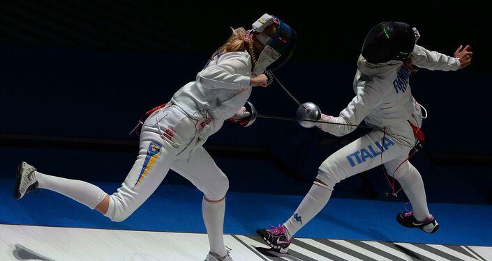 Uno degli ultimi assalti della finale tra Rossella Fiamingo e la svedese Emma Samuelsson